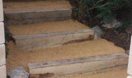 Aménagement d'escaliers extérieur à Apprieu